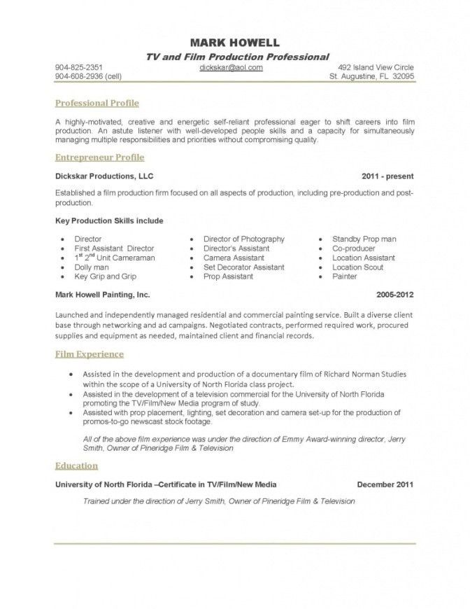 Example Of One Page Resume. Cv Template 1 Page One-Page-Resume ...