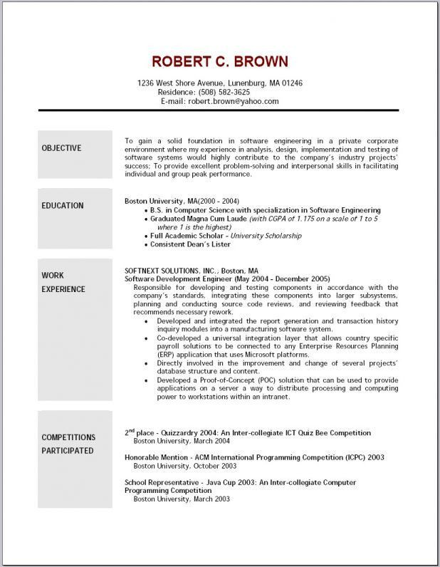 Sample Resume With Objectives 21 Free Data Entry Supervisor Resume ...