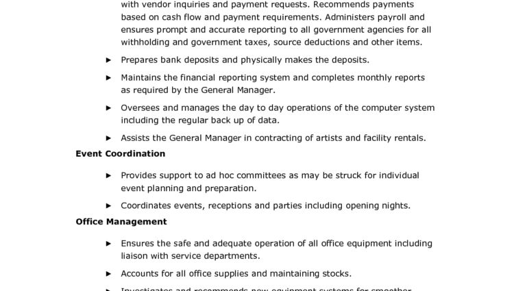 Office Administrator Job Description administrative assistant job ...