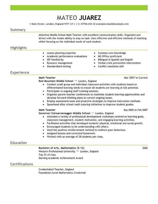 Resume : Maintenance Resume Sample Standard Margin Special ...