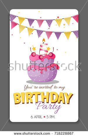 Set 6 Cute Creative Cards Templates Stock Vector 519430246 ...