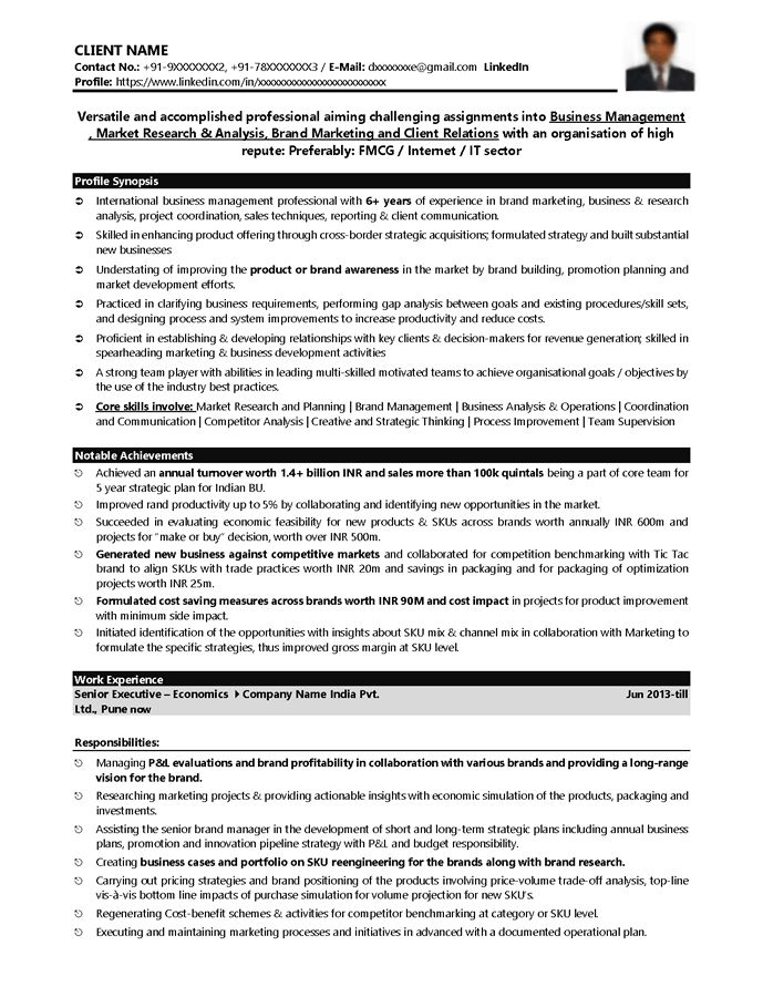 Download Fmcg Resume Sample | haadyaooverbayresort.com