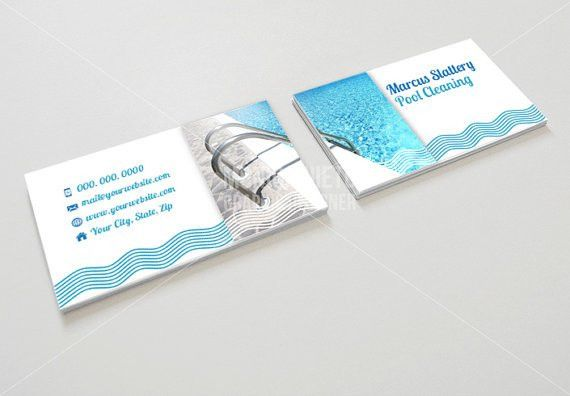 Items similar to Printable Pool Cleaning Business Card/ Pool ...