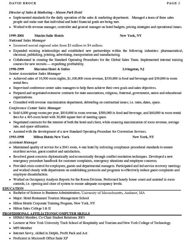 sales manager resume sample marketing