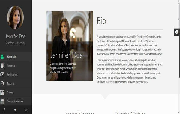 55+ Awesome Personal Vcard & Resume Website Templates - wpfreeware