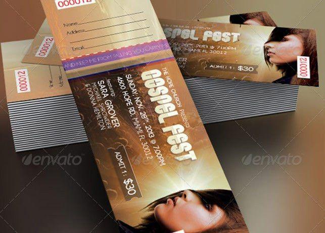 Gospel Fest Concert Ticket Template | Inspiks Market