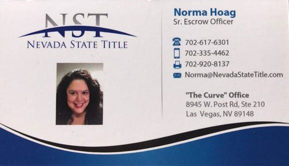 About Norma Hoag and the Escrow Officer Duties