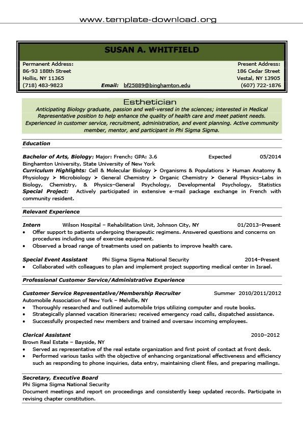 17+ Esthetician Resume Template Download | Doc 12401754 Formal ...
