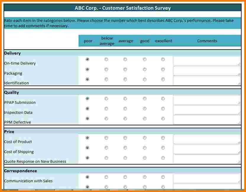 Free customer satisfaction survey template 10 customer 7 excel survey template receipt templates pronofoot35fo Gallery