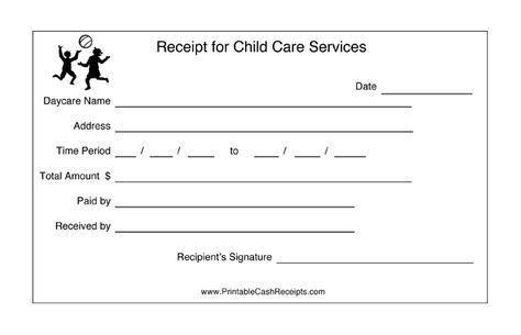 Daycares can keep track of payment periods with this printable ...