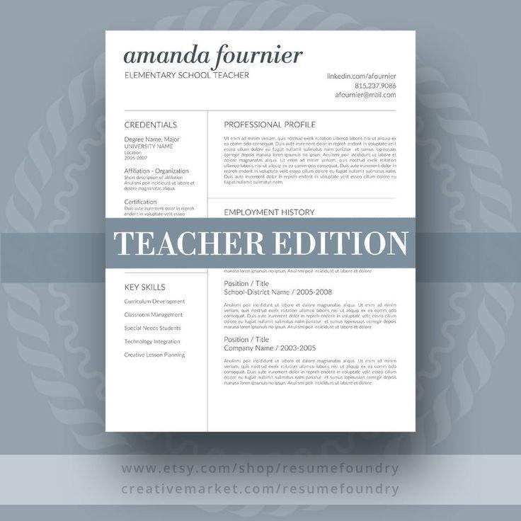 55 best Teacher Resume Templates images on Pinterest | Teacher ...