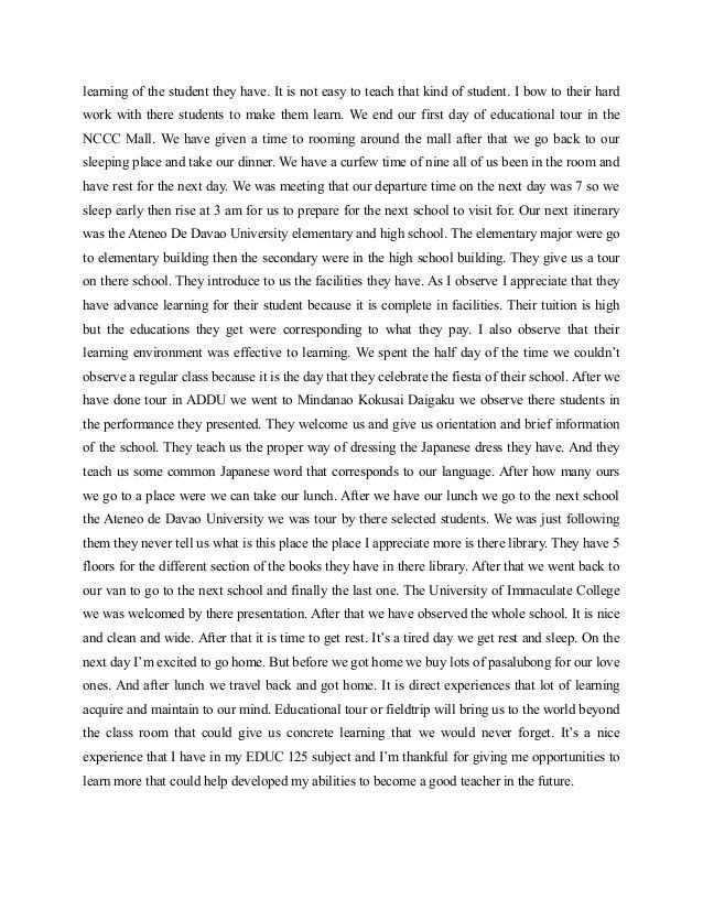 Reflection paper on_educational_tour