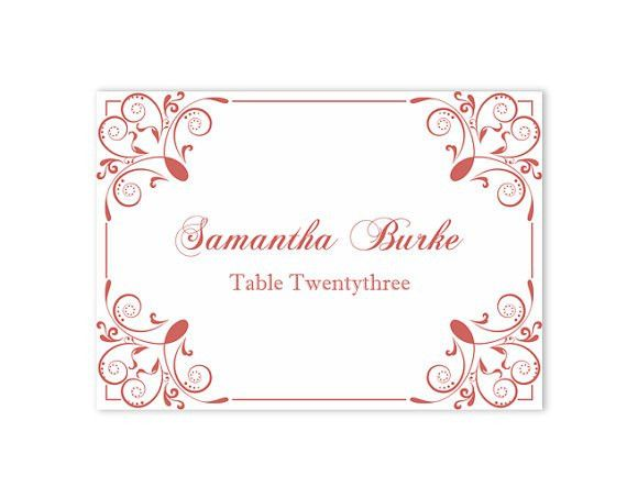 Place Cards Wedding Place Card Template DIY Editable Printable ...