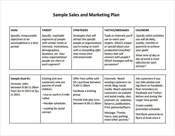 Sales Plan Templates. Sales Action Plan Templates | Download Free ...
