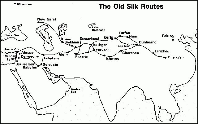 Silk Road Maps, Map of Silk Road, Silk Road Route, Marco Polo