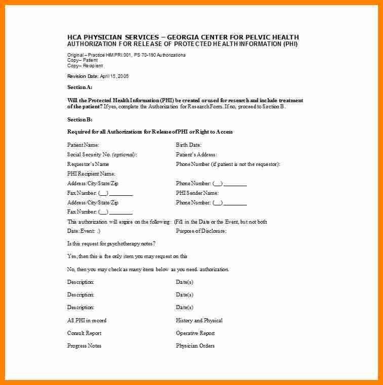 5+ medical release form template | exclusive resumes