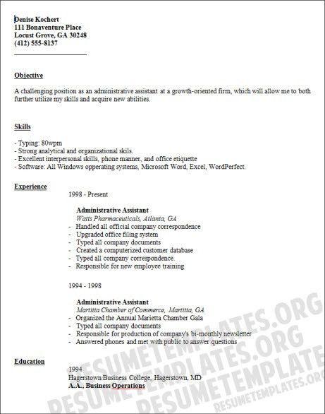 administrative assistant resume objective best resume sample ...