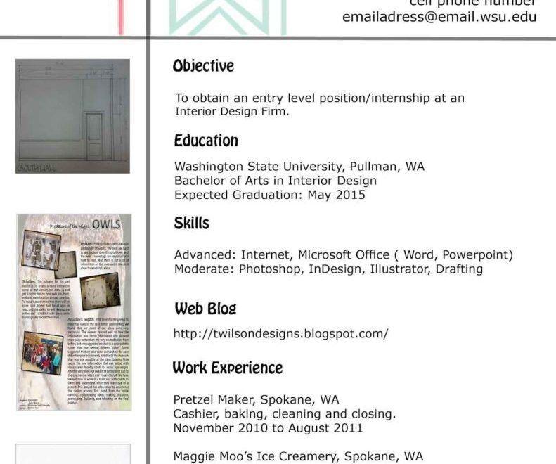 Interior Design Resume. resume template keep the graphic design in ...