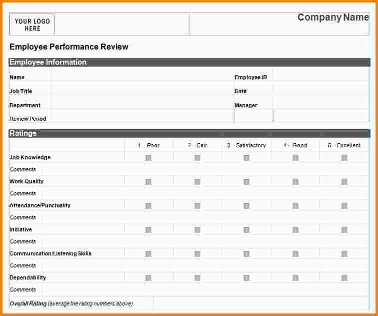 employee monthly review template 93. employee performance reviews ...