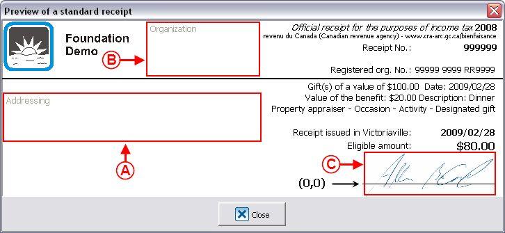 ProDon:Configuration of a Standard Type Receipt (Version 4) - Logilys