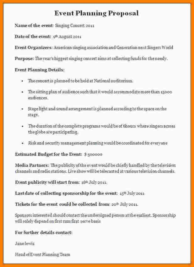 7+ event proposal template   nypd resume