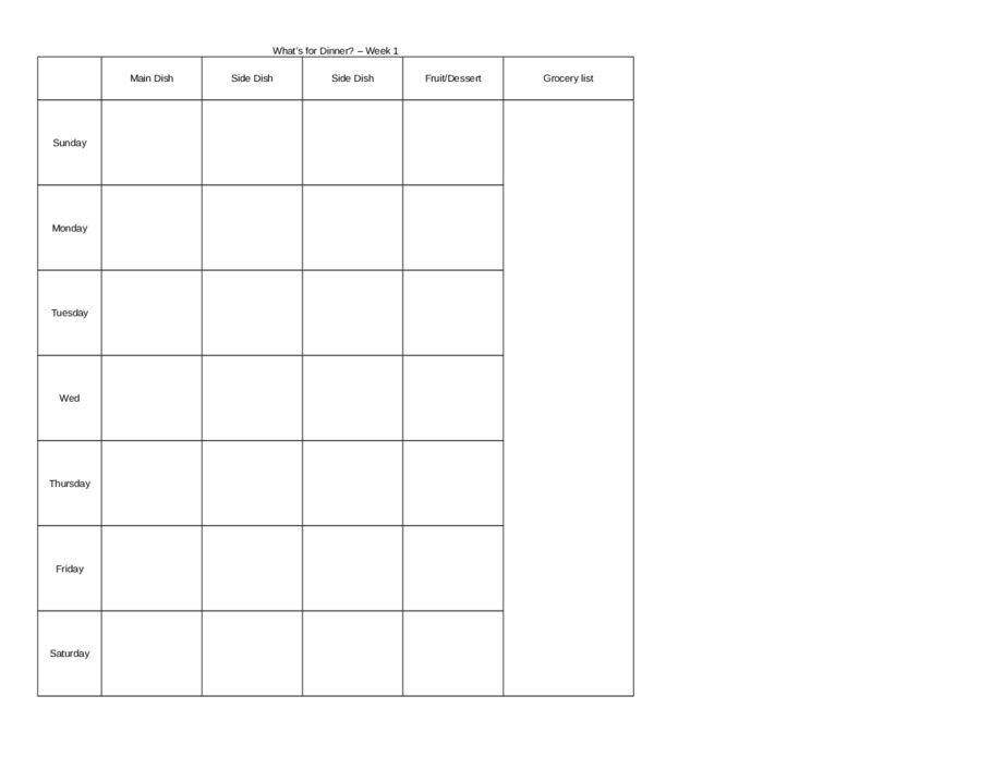Meal Planning Template - Weight Loss Meal Planner | Tips & Templates