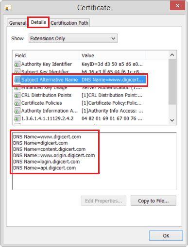 SAN Certificates: Subject Alternative Name – Multi-Domain (SAN)