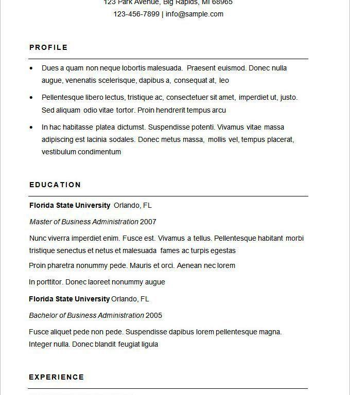 Download Business Resume Format   haadyaooverbayresort.com