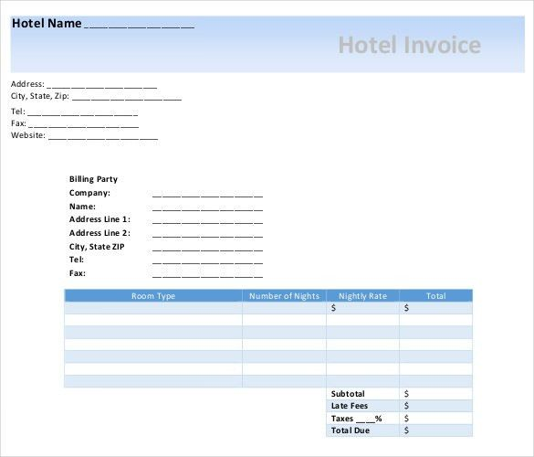 Microsoft Invoice Template - 54+ Free Word, Excel, PDF   Free ...
