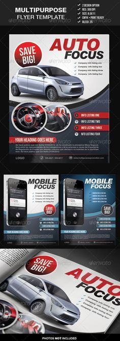 Auto Repair Flyer Template | Flyer template, Brochures and ...