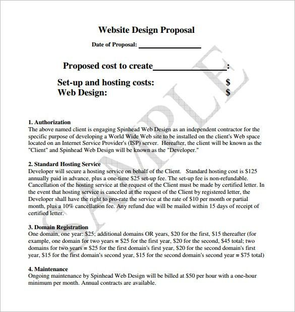 Design Proposal Template U2013 13+ Free Word, Excel, PDF Format .