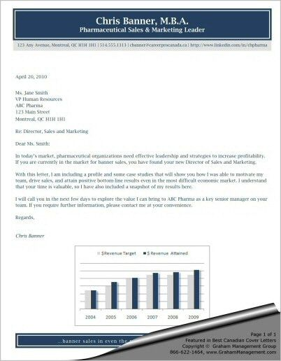 Best Cover Letter for Canadian Sales and Marketing Leader - S. Graham