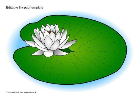 Editable Lily Pad Template (SB8458) - SparkleBox