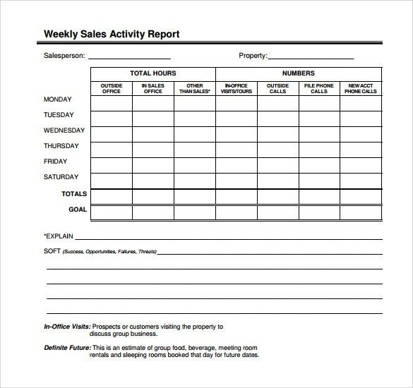 Sample Sales Call Report   7+ Documents In PDF, Word, Excel Pictures Gallery