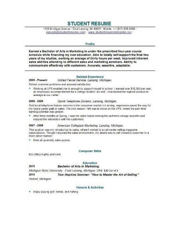 College Graduate Resume – Resume Examples