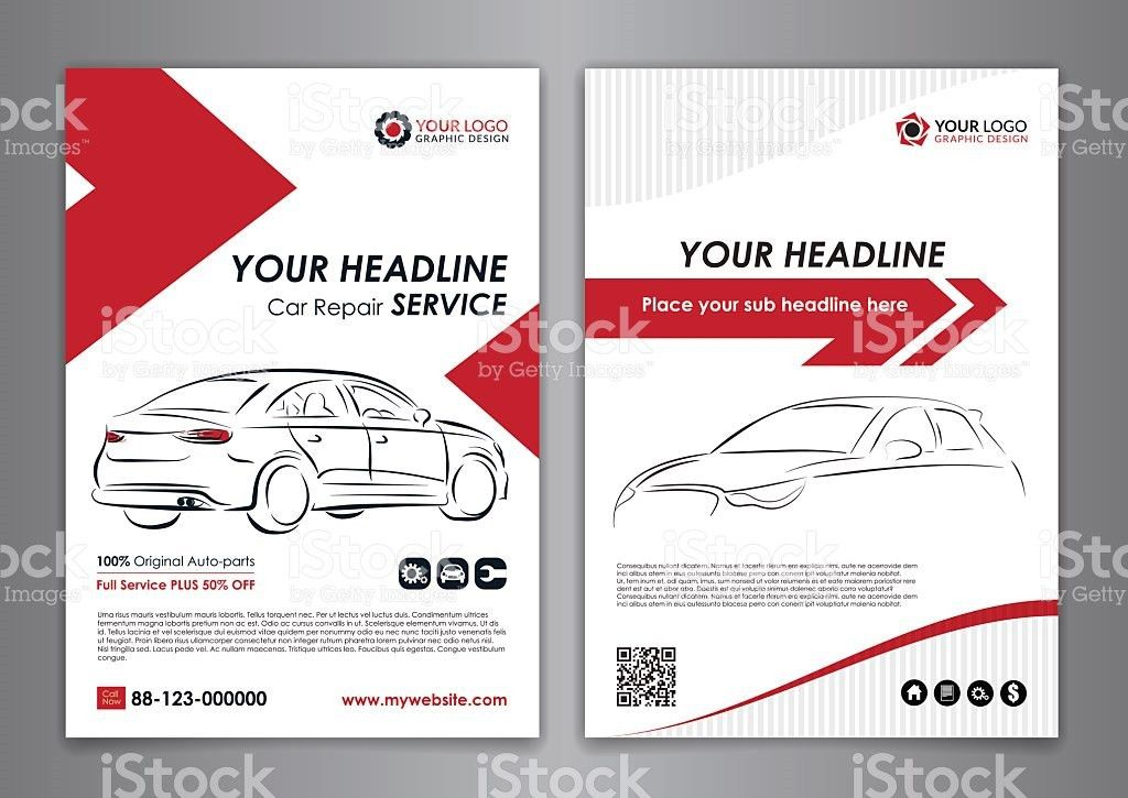 A5 A4 Service Car Business Layout Templates stock vector art ...