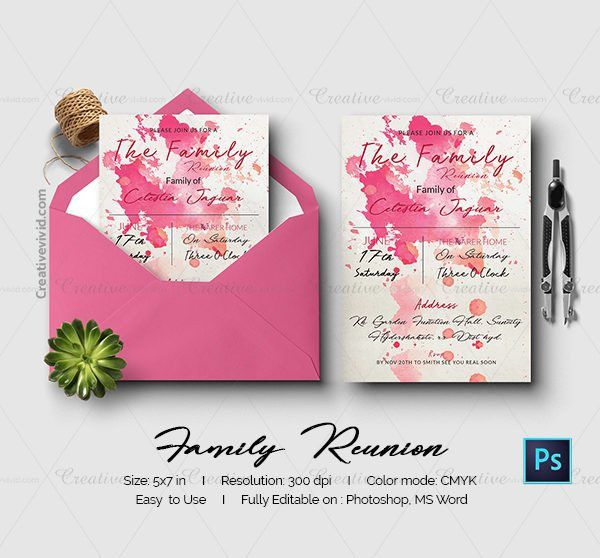 Family Reunion Invitation Templates. 25 best family reunion ...