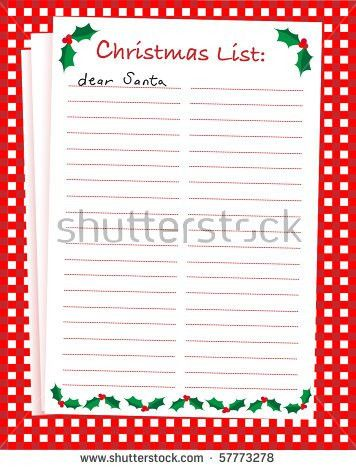 Christmas Wish List Stock Vector 222909193 - Shutterstock