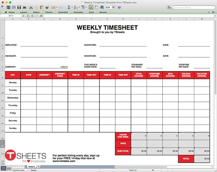 time sheets templates free