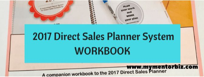Direct Sales Planner Companion workbook - Corporate Mentor | My ...