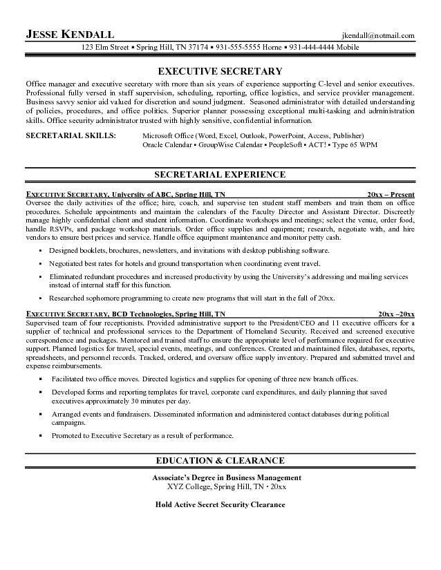 sample resume admin resume cv cover letter. senior executive ...
