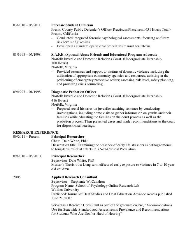 cv clinical psychologist clinical psychologist resume samples