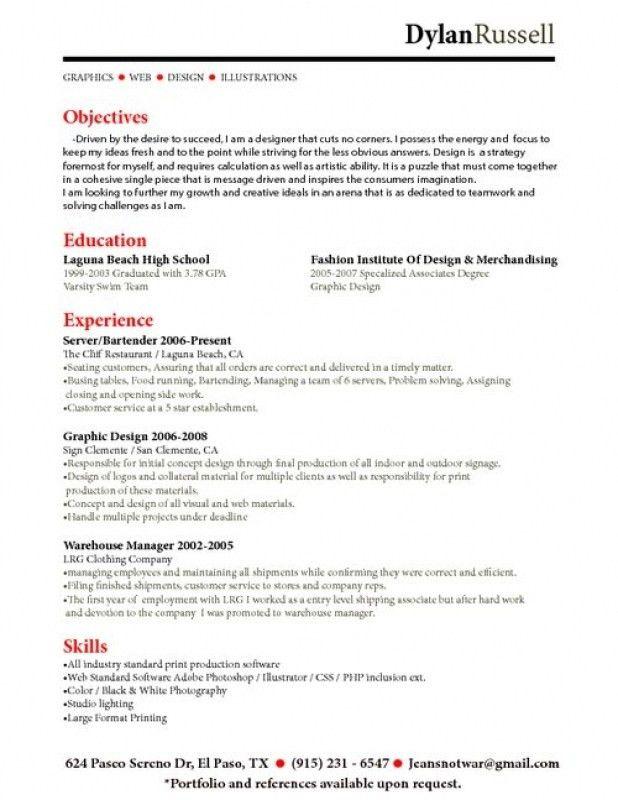 Bartending Resume Skills, marvellous design bartender resume ...
