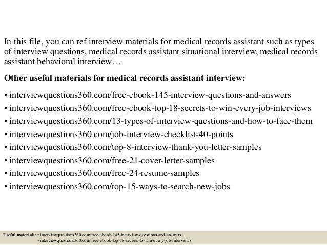 Top 10 medical records assistant interview questions and answers
