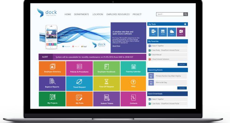 Free SharePoint Templates - Departmental Portals by Dock | Sajin ...
