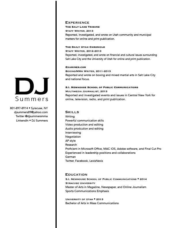 dj resume radio dj resume dj resume sample disk jockey resume
