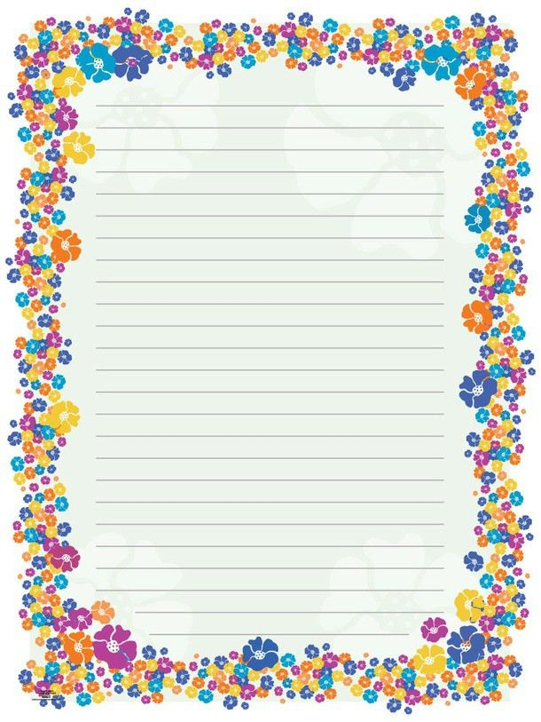 Blank Paper Flowers | stationery/borders for Adults | Pinterest ...
