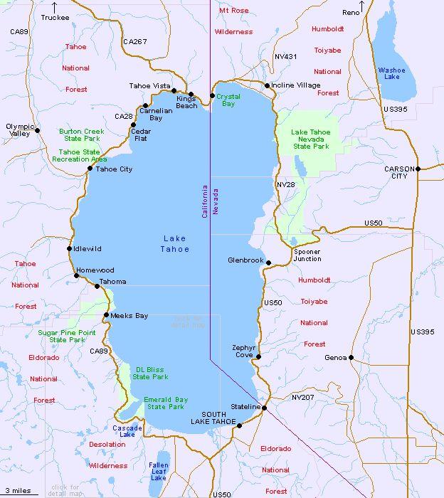 1000 Ideas About Lake Tahoe Map On Pinterest Lake Tahoe