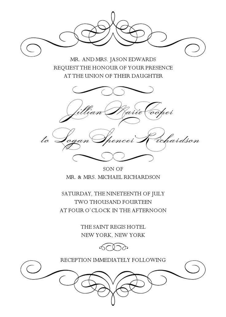 20 best Black and White wedding invitation images on Pinterest ...