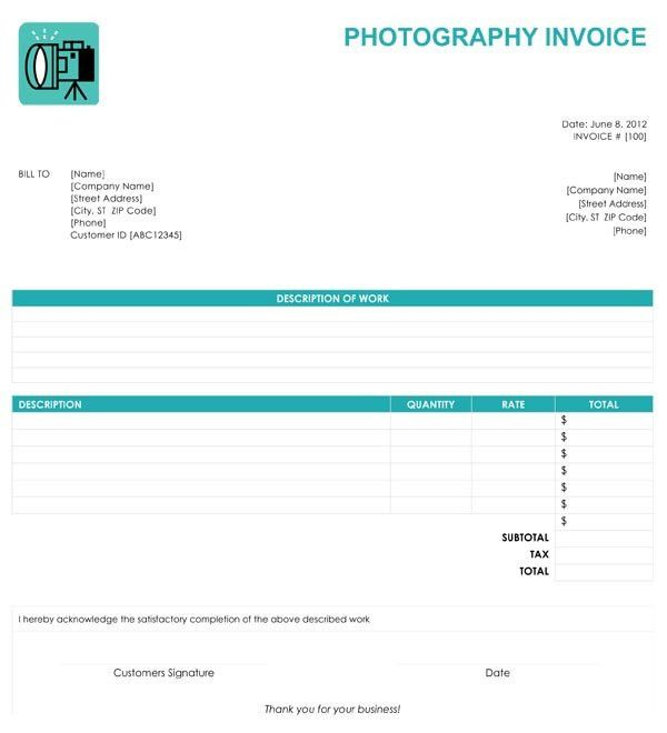 Free Online Invoice Template - Document Templates Download